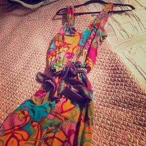 Trina Turk Cotton Maxi with tie belt